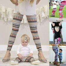 Mother Daughter Printed Skinny Leggings Women Kids Girls Stretchy Pants Trousers