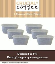 6 Replacements Keurig Charcoal Water Filters Part # K79
