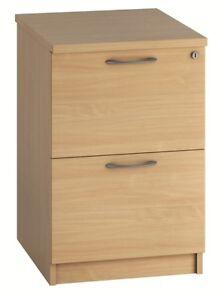 EQUINOX 2-Drawer Wooden Filing Cabinet, BEECH