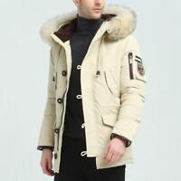 Men's Winter Warm Parka Collar Thicken Down Outwear Fur Jacket Hooded Coat Ths01