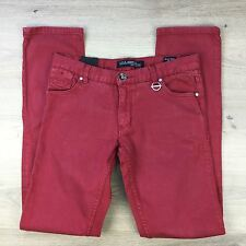 Billabong Skinny Fit Maroon Red Girl's Jeans Size 16 Womens Size W31 L33.5 (C8)