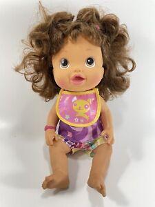 Baby Alive Talking Make Me Better Doll Brunette Spanish English Cheeks Light Up