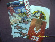 LIVERPOOL FC 1984/85 PICTURE DISC LP + BOOKLET,STICKERS etc