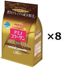 8 pack Meiji Amino Collagen Premium 214g Refill from Japan