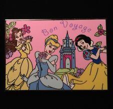 DISNEY PIN - SNOW WHITE BELLE CINDERELLA Bon Voyage Princess Postcard Series LE