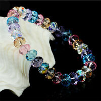 Crystal Faceted Loose beads Bracelet Stretch Bangle Girl's Elegant Jewelry Gift