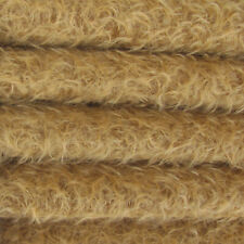 """1/4 yd 325S/Cm Antq Honey Intercal 5/8"""" Semi-Sparse Curly Matted Mohair Fabric"""
