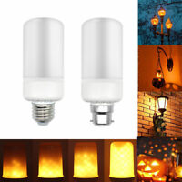 B22 E27 LED Ampoule Lumière brûlante Lampe Flamme Effet de feu décoratif Noël