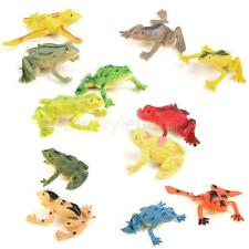 12Pcs Animal Amphibian Figure Plastic Reptile Frog Figur kid Learn Toys