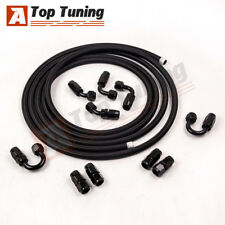 AN8 8AN AN-8 Nylon Braided OIL FUEL Line Fitting Hose End Adaptor KIT 16.4FT
