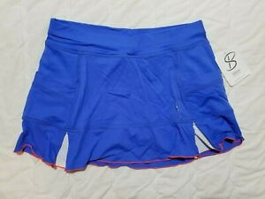 1 NWT SOFIBELLA WOMEN'S SKORT, SIZE: SMALL, COLOR: BLUE/ORANGE (J179)
