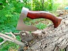 CUSTOM HAND FORGED STAINLESS STEEL VIKING AXE TOMAHAWAK AXE FOR CAMPING &HUNTING