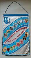 Wimpel 1.FC Magdeburg Torino Schalke 04 EC Gegner 76 - 80 Pennant FCM Arsenal