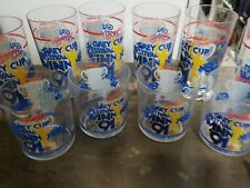 Grey Cup CFL 91 Winnipeg Blue Bombers plastic glass set