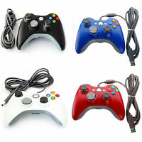 New Wired Xbox 360 USB Controller GamePad For Microsoft Xbox SLIM Laptop PC UK