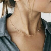 Fashion Necklace Clavicle Choker Chain Women Gold Silver Accessories Jewelry New