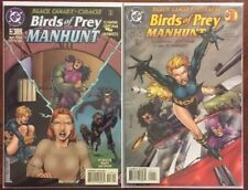BIRDS OF PREY: MANHUNT #1 - 4 COMPLETE SERIES ORACLE BLACK CANARY CATWOMAN