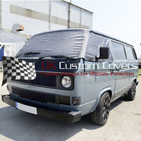 VW T25 TRANSPORTER CAMPER SCREEN CURTAIN WRAP COVER 295 GREY