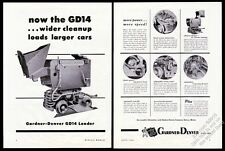 1946 Gardner-Denver train mining mine cart loader 6 photo vintage print ad
