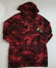 NWT Polo Ralph Lauren 1/4 zip Red Camo waffle hoodie Mens Large L NEW