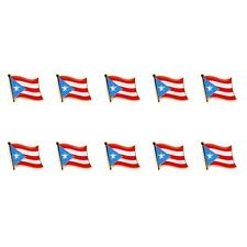 "LOT OF 10 PUERTO RICO FLAG LAPEL PIN 0.5"" Puerto Rican NEW Pinback Hat Tie Badge"