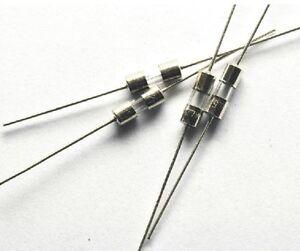 50pcs 5A 250V Glass Pigtail fuse 250V 3x10mm