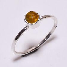 925 Sterling Silver Ring Size UK Q 1/2, Tourmaline Gemstone Women Jewelry CR3669