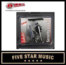 BLACK Schaller Straplock Set Lock for Guitar Strap NEW Straplocks