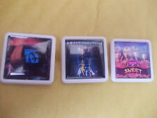 GLAM ROCK YET ANOTHER 3 SWEET ALBUM BADGES FREE POSTAGE IN THE UK