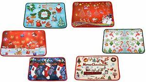 Novelty Christmas Door Mat Non Slip Doormat Floor Mat Xmas Home Decorations