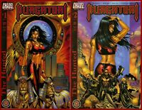 Lot Of 2 PURGATORI THE HUNTED 1-2 Complete 1 2 Chaos Comics Horror 2001