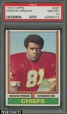 1974 Football Topps #297 Marvin Upshaw Kansas City Chiefs PSA 10 GEM MINT