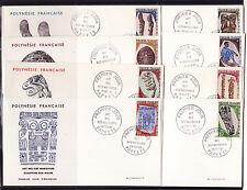 Polynésie   enveloppe  1er jour   arts des iles Marquises   1968