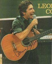 Leonard cohen autógrafo signed 20x25 cm Revista Imagen