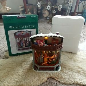 """Lighted Holiday Musical Box Water Window """"Oh What a Merry Little Christmas Day"""""""
