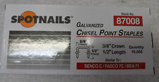 """Staples 10,000 NEW  Galvanized 22 Gauge 3/8"""" crown x 1/2"""" long Upholstery"""
