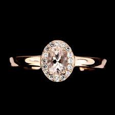 TOP MORGANITE RING : Natürliche Hell Rosa Morganit Ring Gr. 17,75 Silber R382