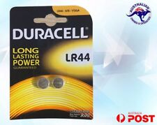 Duracell LR44 SR44 V13GA A76 AG13 BUTTON CELL BATTERY ALKALINE 165mA 1.5V 2 Pack