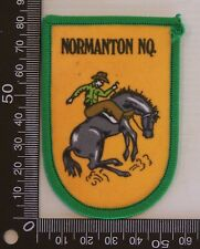 VINTAGE NORMANTON QLD AUSTRALIA EMBROIDERED SOUVENIR PATCH WOVEN SEW-ON BADGE