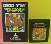 Atari 2600 Circus Atari Game & Instruction Manual Tested Works Rare