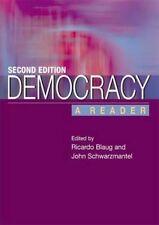 Democracy: A Reader, Good Condition Book, John Schwarzmantel, Ricardo Blaug, ISB