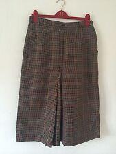 DAKS LONDON New Pure Wool Dogtooth Check Heritage Vintage Skirt UK 14