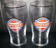 PAIR COLLECTABLE SPITFIRE PREMIUM KENTISH ALE 570ML PINT BEER GLASSES BRAND NEW