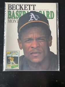 RICKY HENDERSON Beckett Baseball Card Monthly Issue #57 December 1989