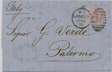 2147 GB 1875/6 QV 2 1/2D rosymauve wmk Anchor Pl 1-3 cpl single/multiple postage