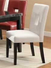 Newbridge White Vinyl Dining Side Chair by Coaster 103612WHT - Set of 2