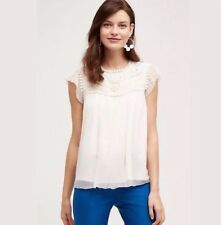 Anthropologie Moulinette Soeurs Lyra Blouse Top Shirt Embroidered Size 8 $168