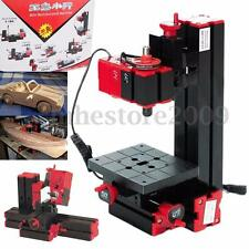 6 In 1 Multi Metal Mini Wood CNC Lathe Motorized Jig-saw Grinder Driller Milling