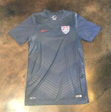 NIKE Mens Small  Dri-Fit Team USA Soccer Futbol Jersey Blue