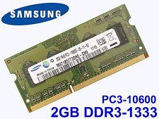 2GB DDR3-1333 PC3-10600 SAMSUNG M471B5773DH0-CH9 1333Mhz LAPTOP RAM SPEICHER